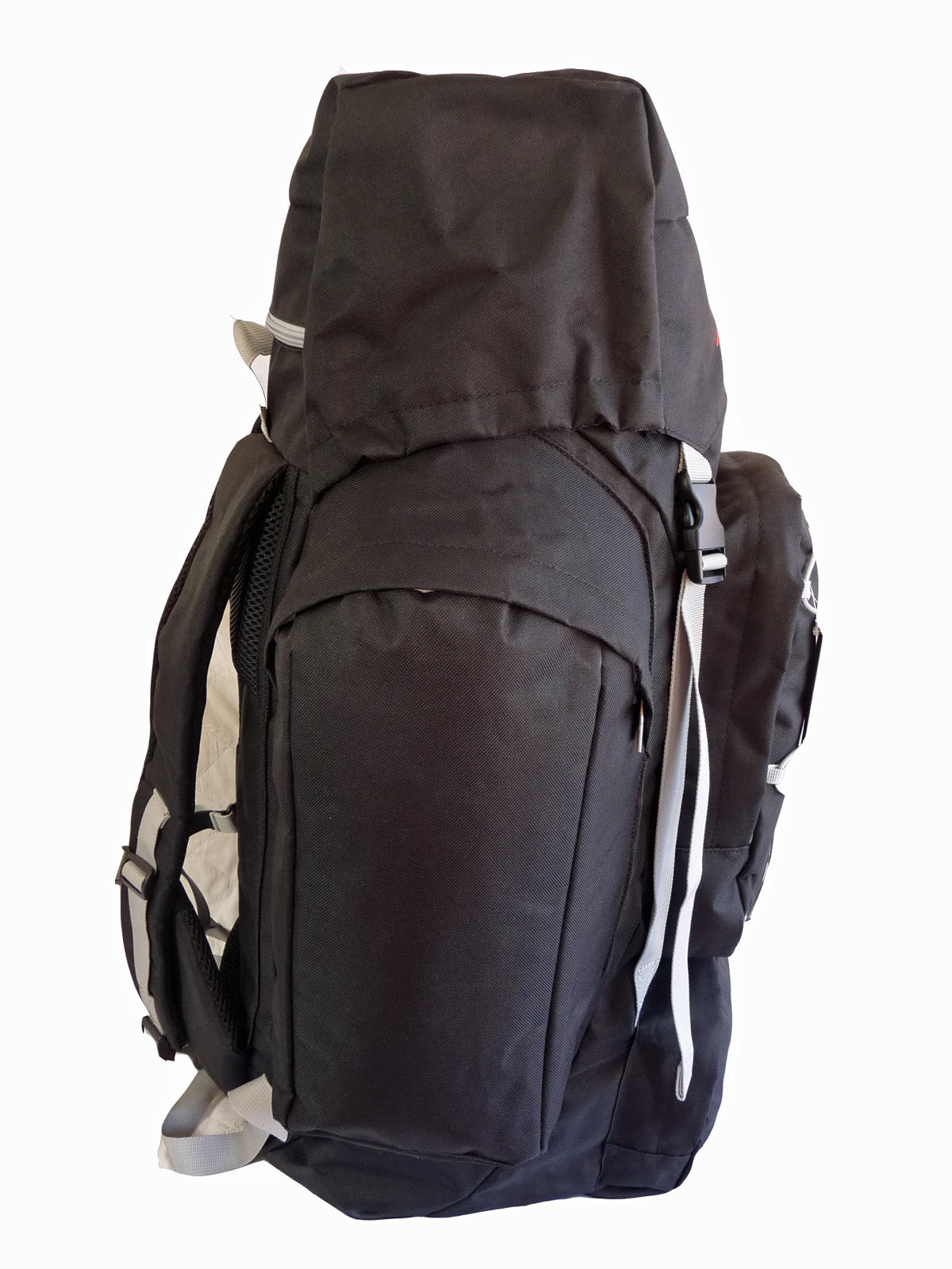 80 100 125 litre backpack black end view