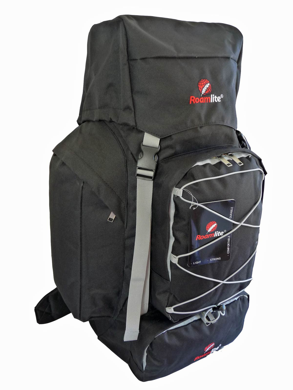 80 100 125 litre backpack black side view