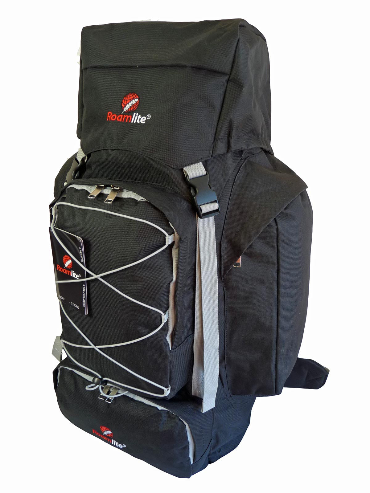 80 100 125 litre backpack black r side view