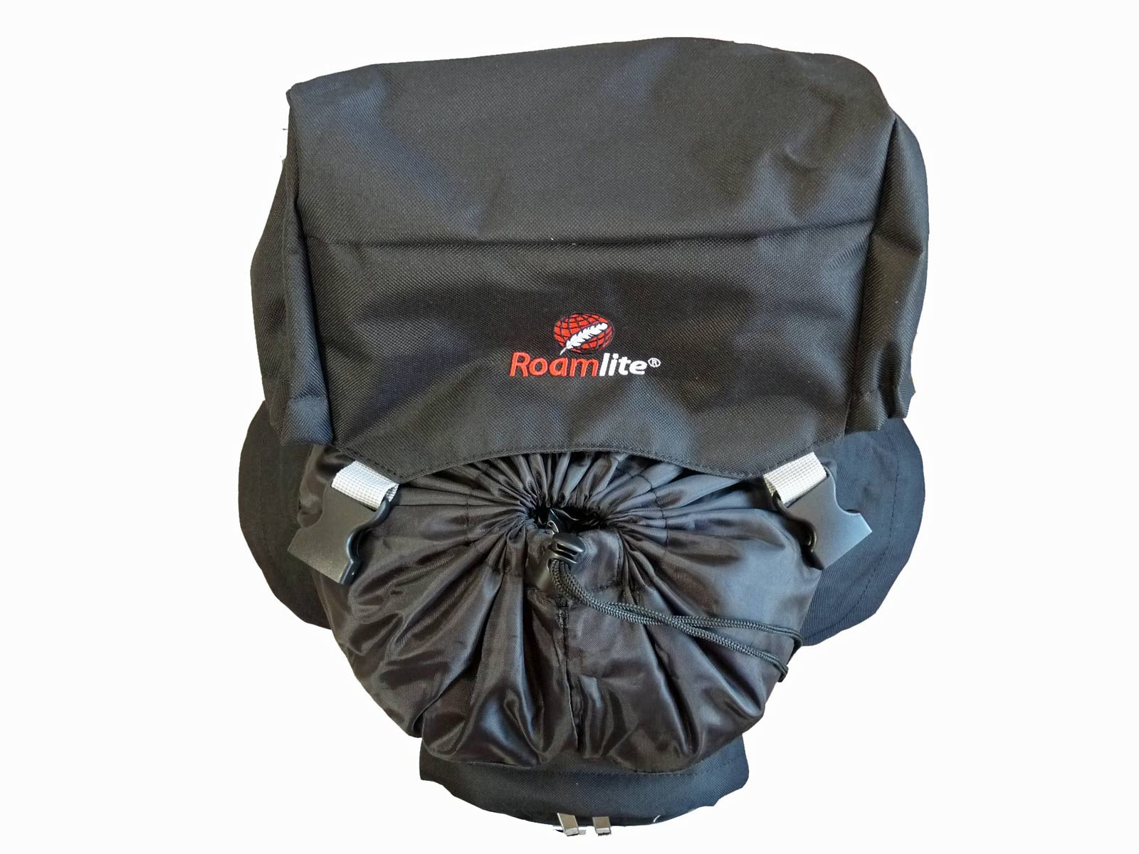 80 100 125 litre backpack black top view
