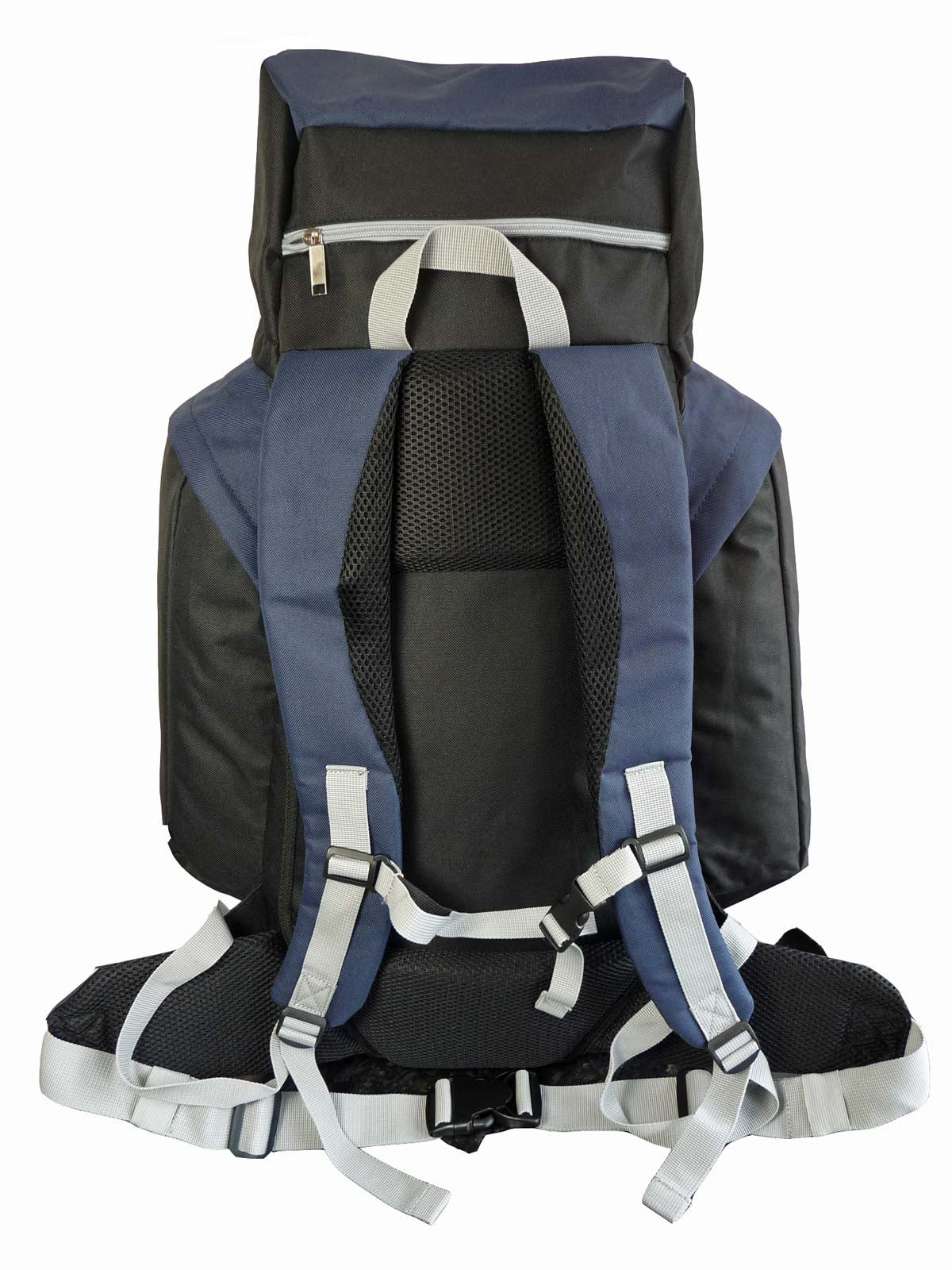 80 100 125 litre backpack blue rear view