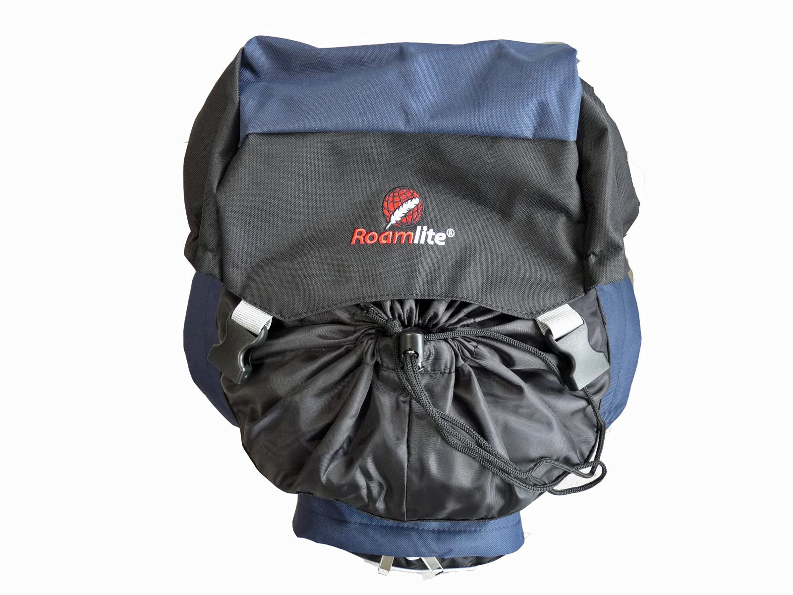 80 100 125 litre backpack blue top view
