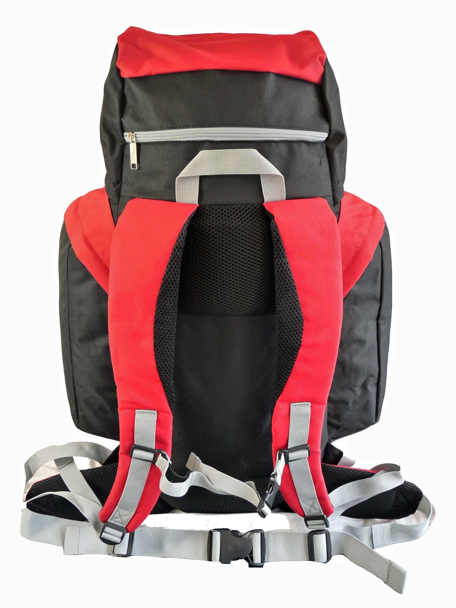 80 100 125 litre backpack red rear view