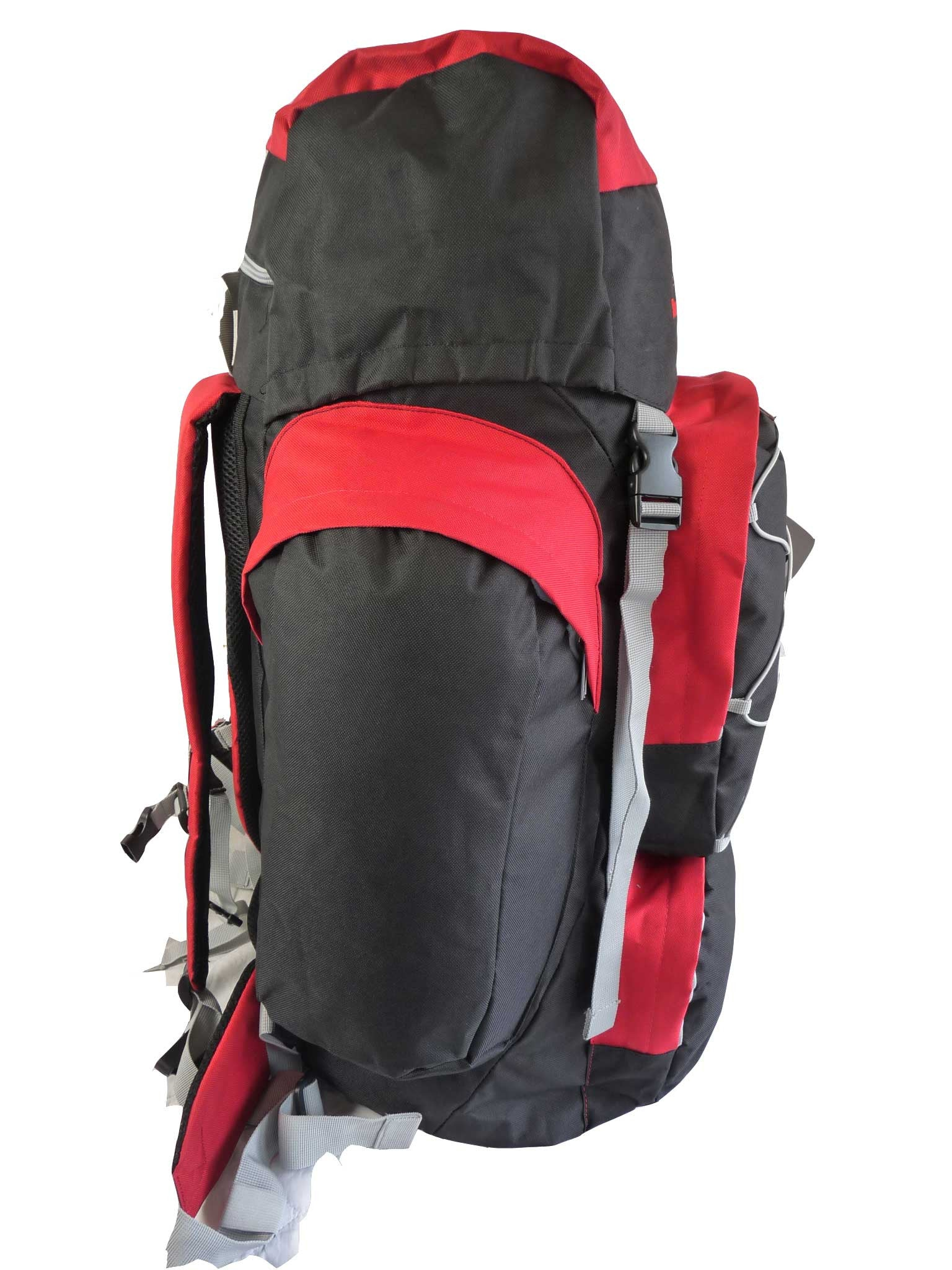 80 100 125 litre backpack red end view