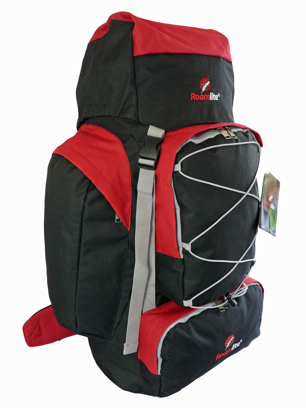 80 100 125 litre backpack red r side view