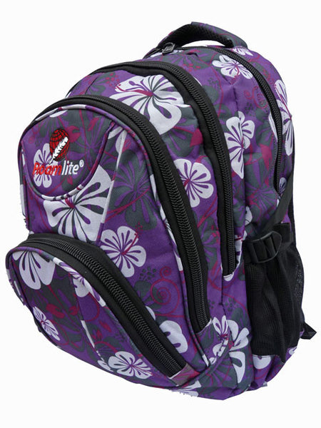 Purple Floral Girls School Size Backpack Rucksack bag RL83