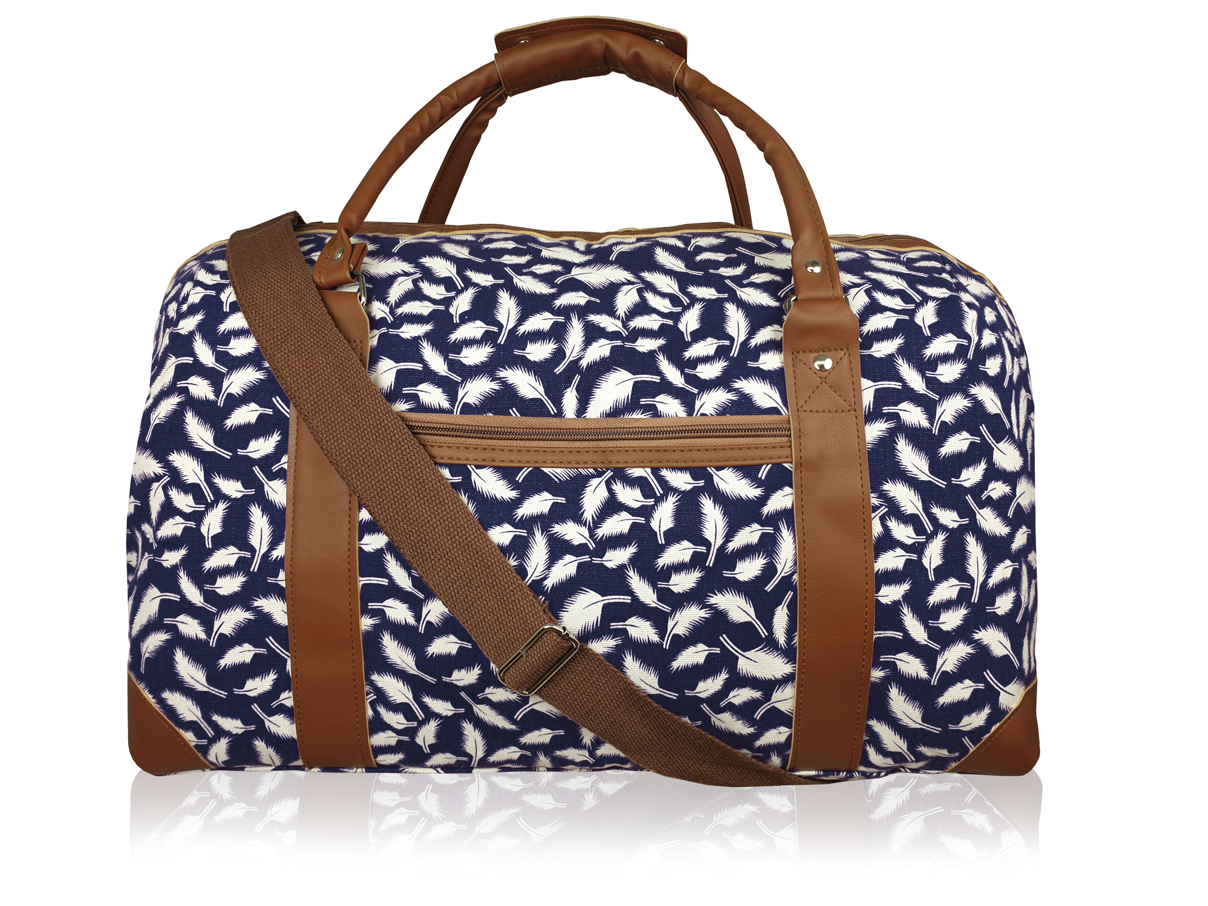 Womens Canvas Travel Weekend Holdall, Sport and Gym Duffle Bag Multi