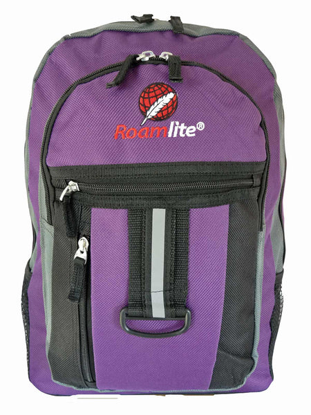 School Backpack RL32 Purple Front View