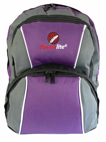 Kids School Backpack Bag RL28 Purple Front View