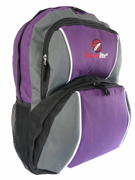 Kids School Backpack Bag RL28 Purple R Side View