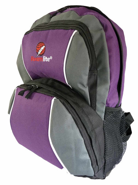 Kids School Backpack Bag RL28 Purple Side View
