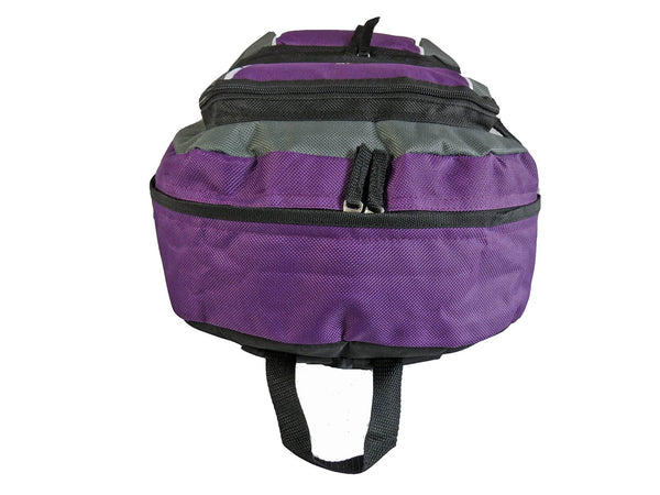 Kids School Backpack Bag RL28 Purple Top View