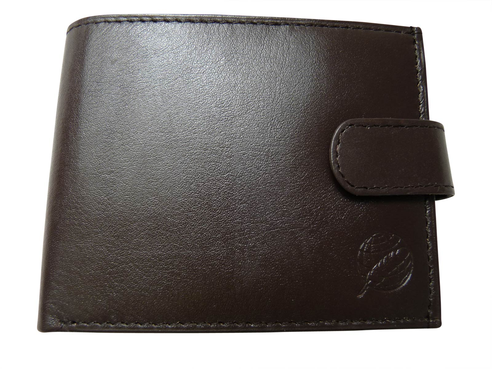 Black Leather Cards Notes and Coins Wallet RL374DB front