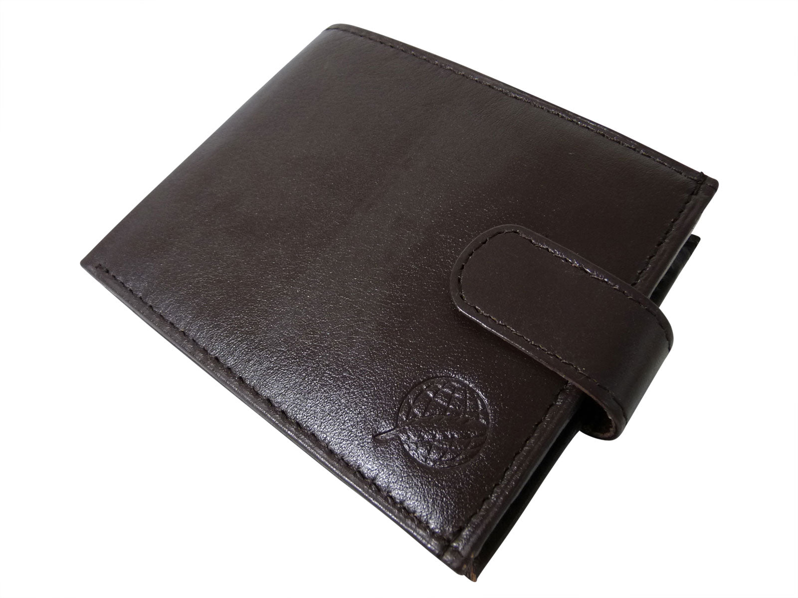Black Leather Cards Notes and Coins Wallet RL374DB front2