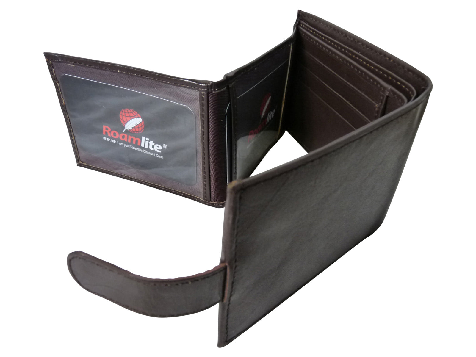 Black Leather Cards Notes and Coins Wallet RL374DB inside