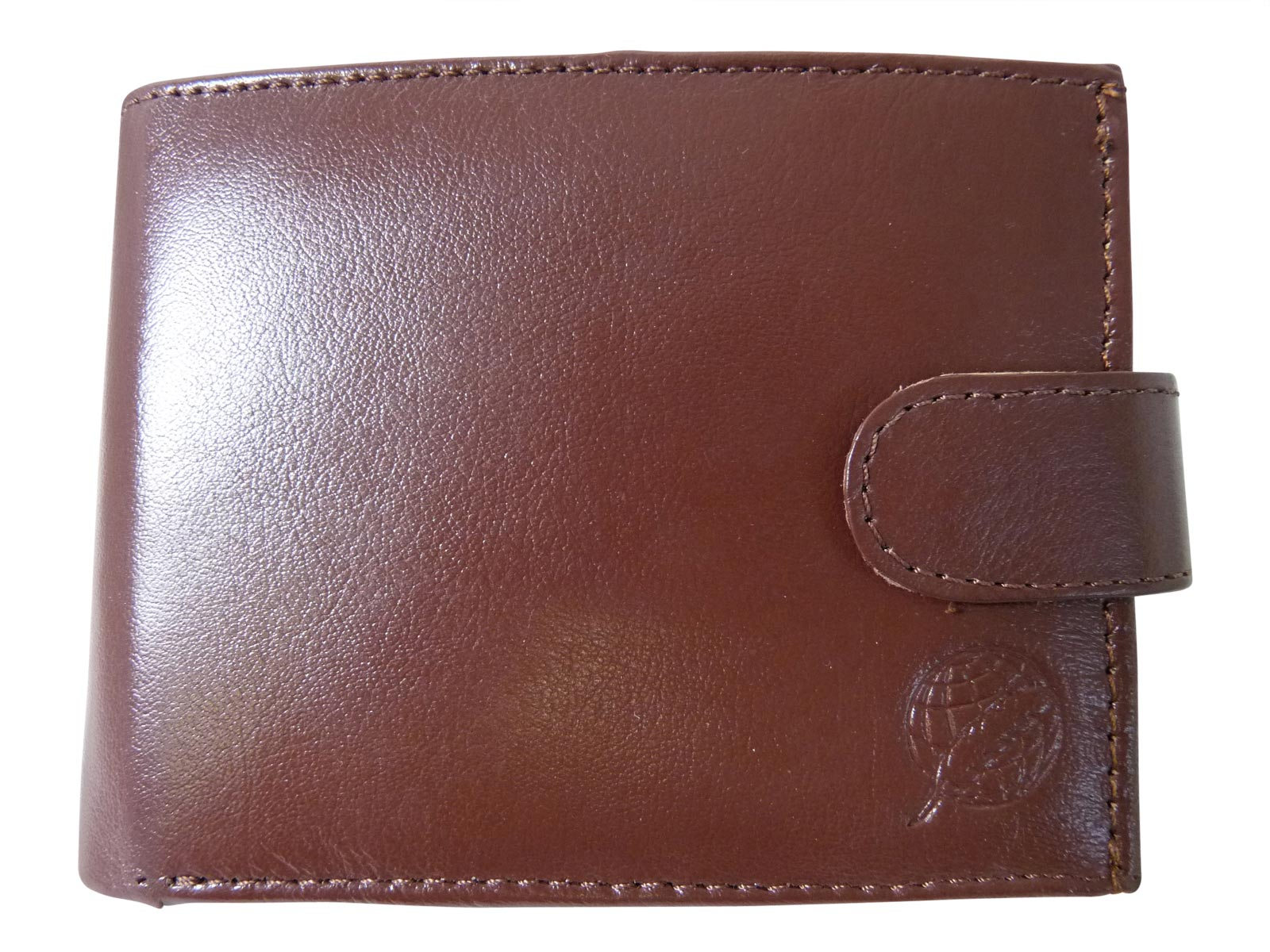 Black Leather Cards Notes and Coins Wallet RL374LB front