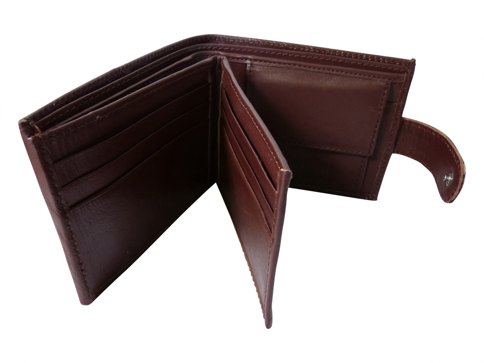 Black Leather Cards Notes and Coins Wallet RL374LB inside
