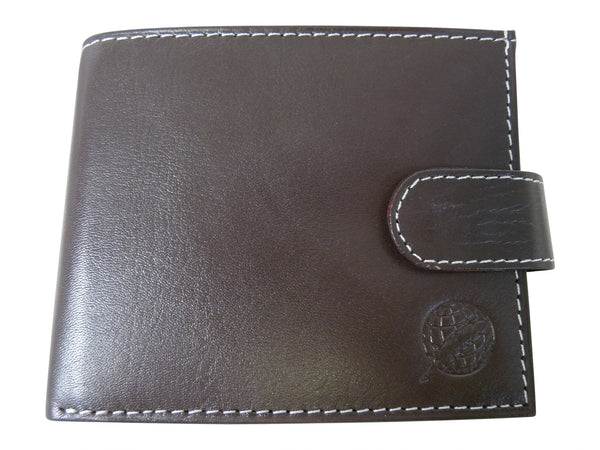 Mens Leather Wallet Credit Cards RL507DB front