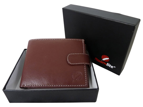 Mens Leather Wallet Credit Cards RL507LB gift boxed