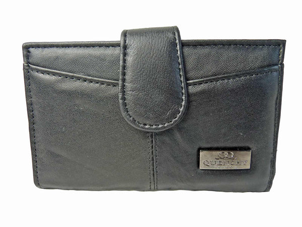 Medium Leather Purse QL226 Front View