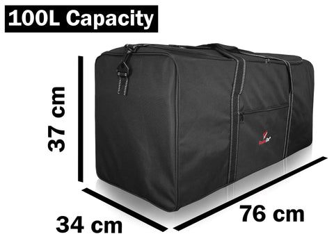 2-XL Extra Large Travel Holdall, 100L Cargo Bag, Storage Laundry Duffle R30