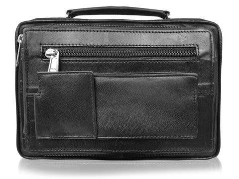 Men's Soft Leather Utility Travel Organiser Man's Shoulder Bag RL521