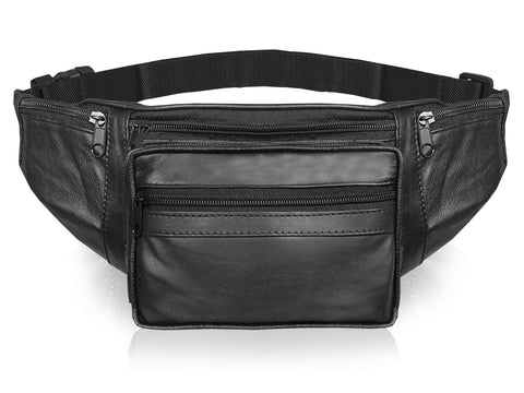 Large Multi Pocket Leather Travel Bumbag RL286KS