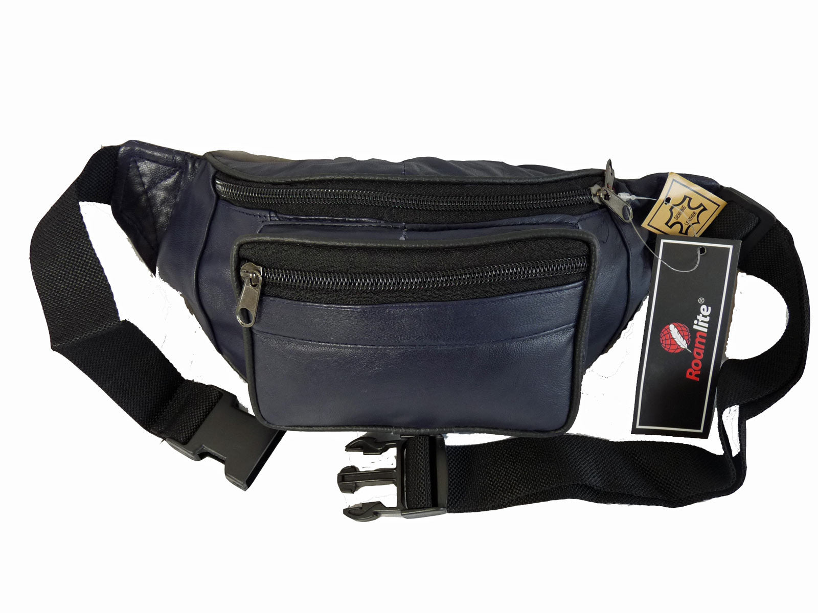 Leather Bumbag RL700MB Midnight Blue Front View
