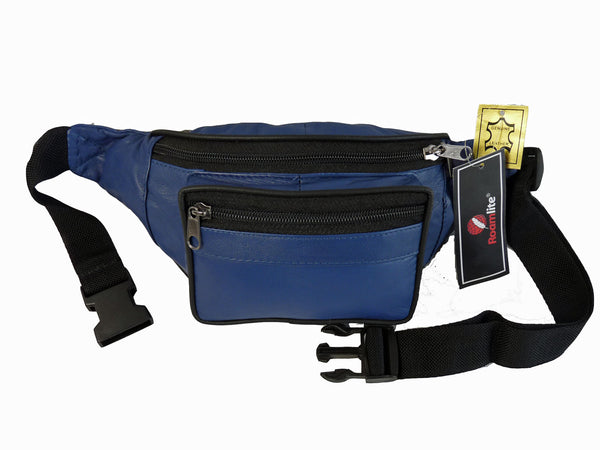 Leather Bumbag RL700NB Navy Blue Front View