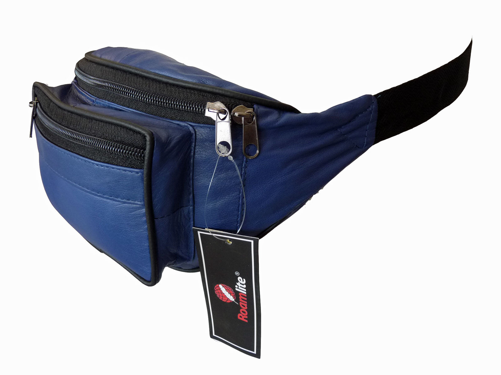 Leather Bumbag RL700NB Navy Blue Side View