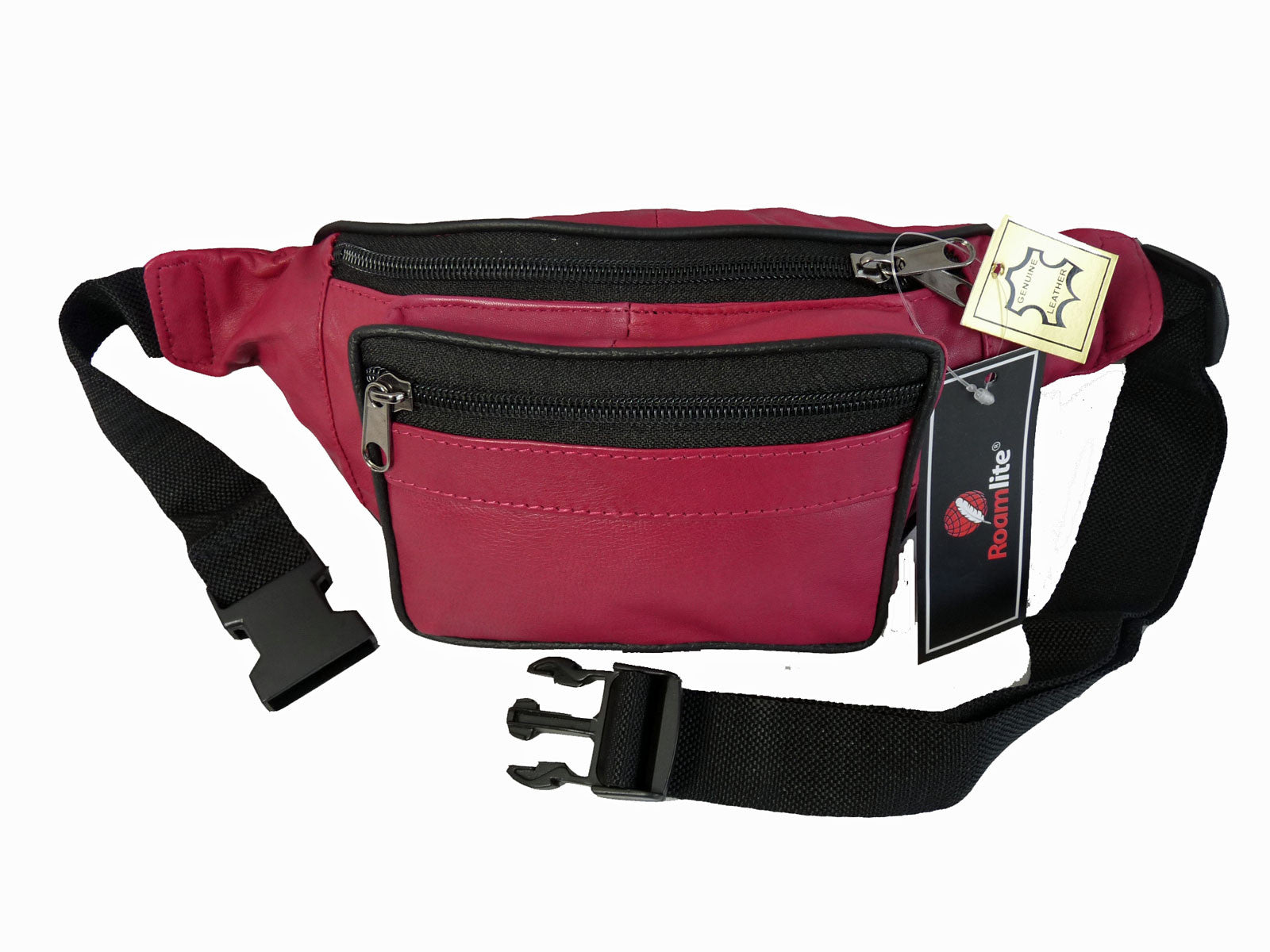 Leather Bumbag RL700P Pink Front View