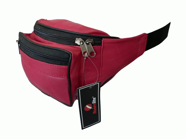 Leather Bumbag RL700P Pink Side View