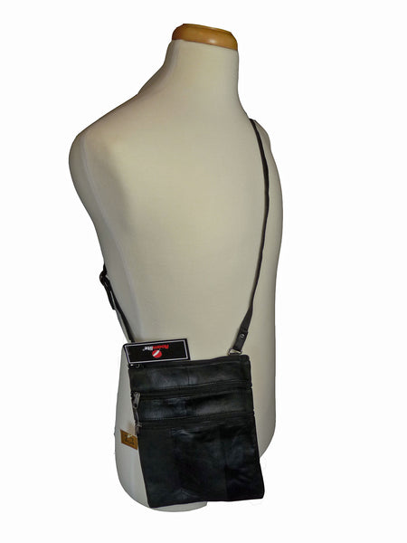 Ladies womens cross body neck pouch bag rl117 body view