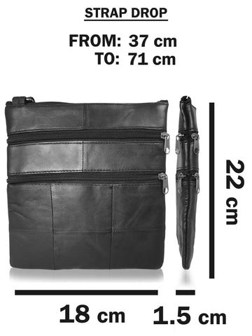 Small Leather Shoulder Man Bag Travel RL178 f
