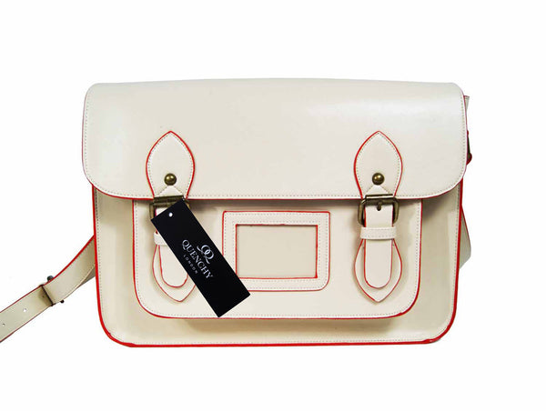 Leather Satchel Cross Body QL525W front view