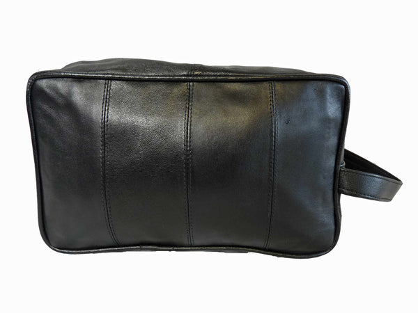 Leather Toiletry Toiletries Wash Bag RL215 FRONT VIEW