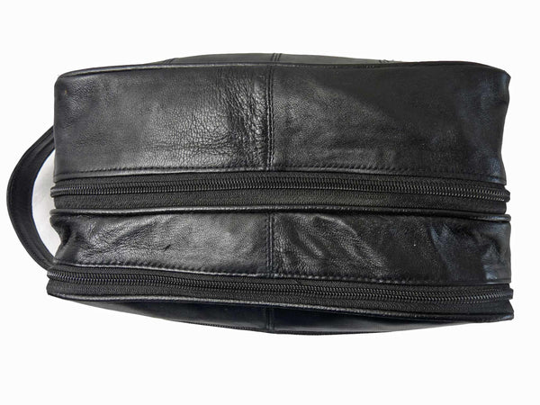 Leather Toiletry Toiletries Wash Bag RL215 TOP VIEW