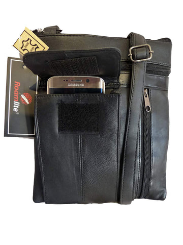 Black Leather Travel Bag Man Bags Holster RL179