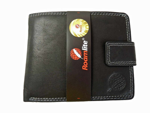 REAL Leather Mens Gents Slimline Wallet Slimfold Roamlite RL409AWK