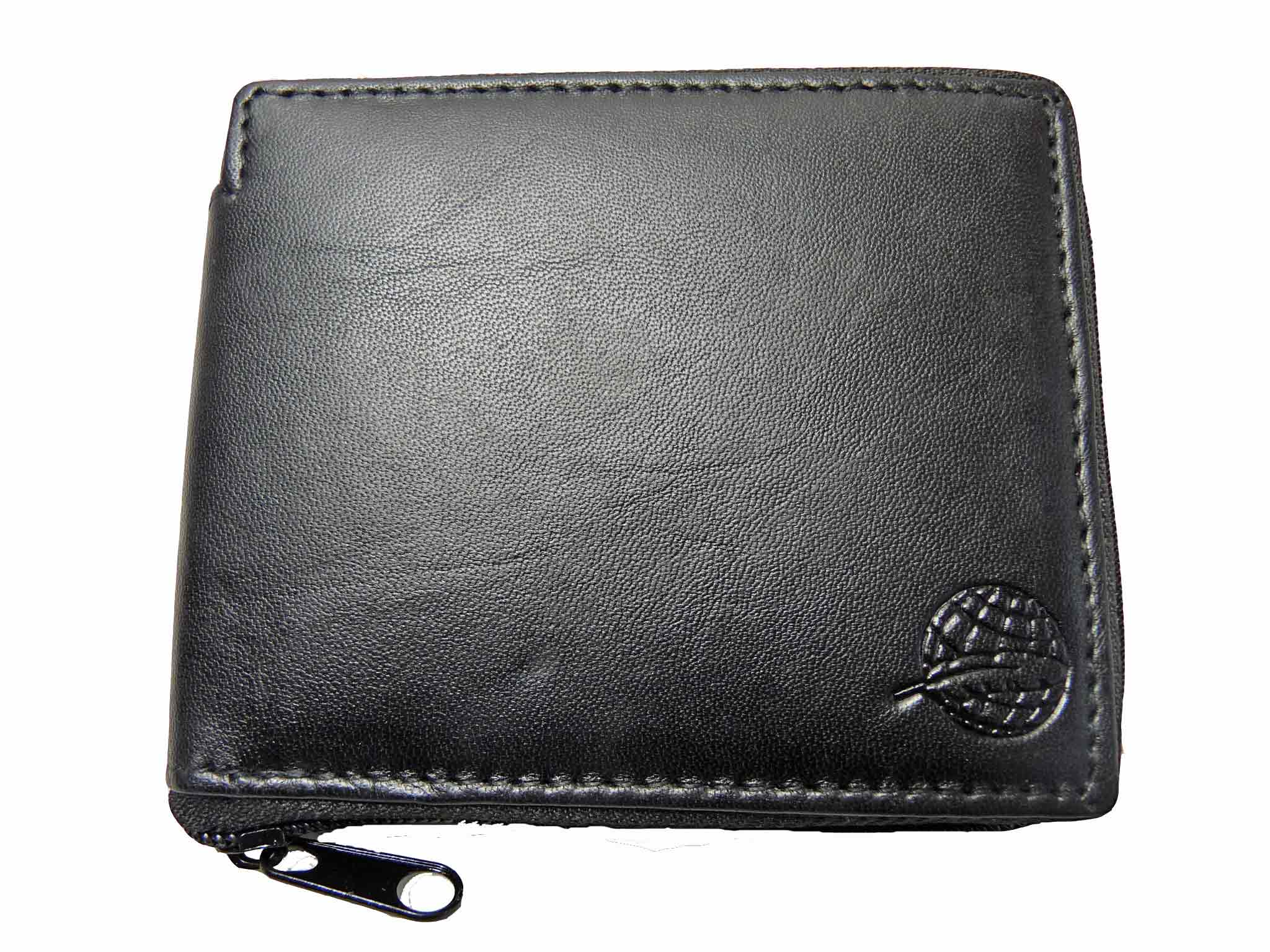 Zip around mens leather wallet RL184K front view