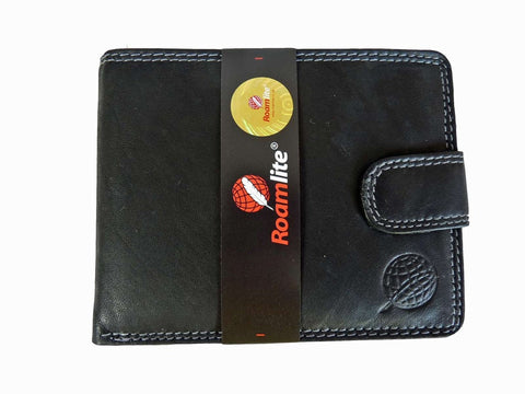 REAL Leather Mens Gents Slimfold Jeans Wallets Roamlite RL410AWK