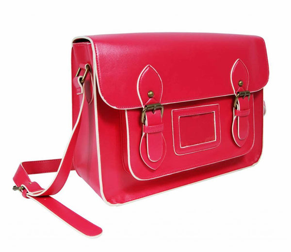 Patent Pu Leather Girls Cross Body Bag Classic Retro Bags Pink 525
