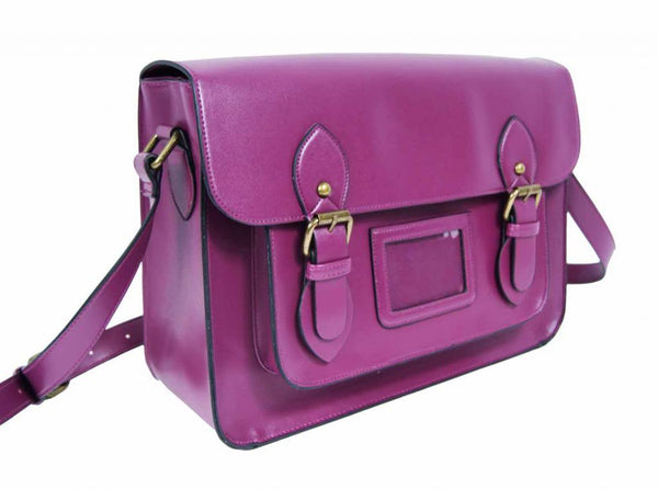 Patent Pu Leather Girls Cross Body Bag Classic Retro Bags Purple 525