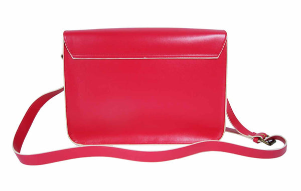 Leather Satchel Cross Body QL525P rear view