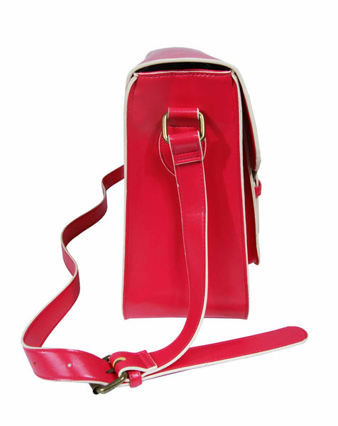 Leather Satchel Cross Body QL525W side view 2