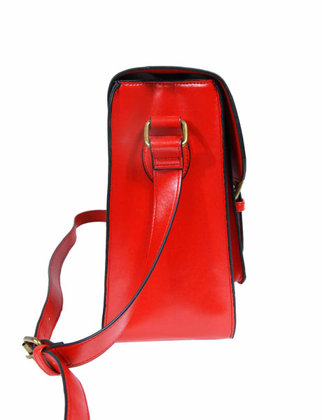 Leather Satchel Cross Body QL525R side view 2