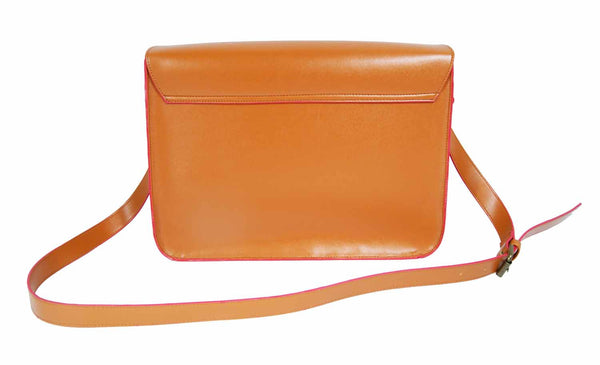 Leather Satchel Cross Body QL525T rear view