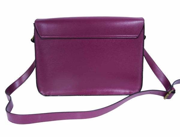 Leather Satchel Cross Body QL525Pu rear view