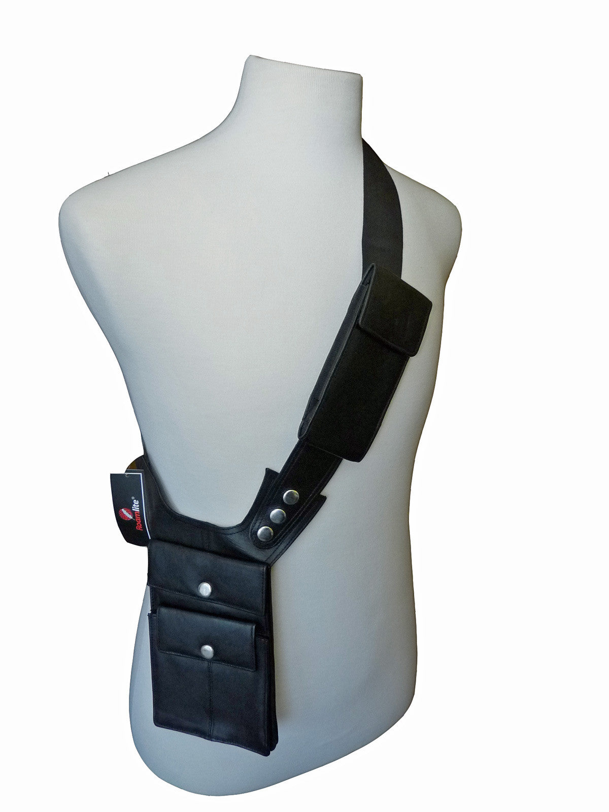 Shoulder Under Arm Holster Travel Bag Black RL705 MODEL VIEW