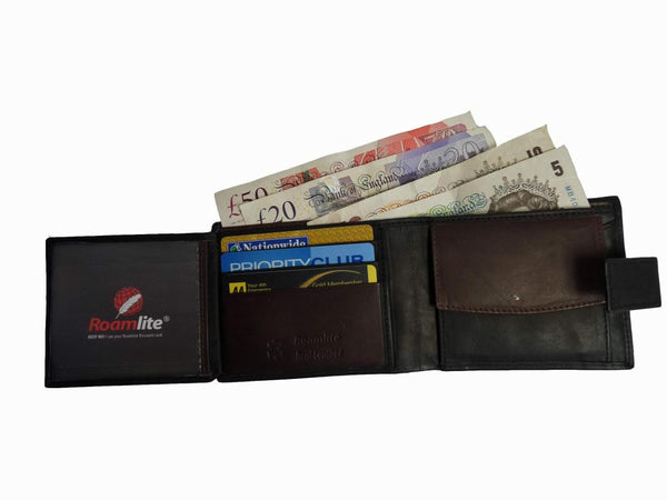 leather mens mans credit card wallet RL359AWB inside view 2